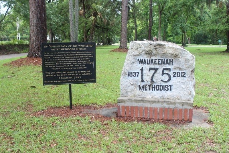 175th Anniversary of the Waukeenah United Methodist Church Marker image. Click for full size.