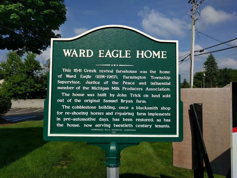 Ward Eagle Home Marker image. Click for full size.