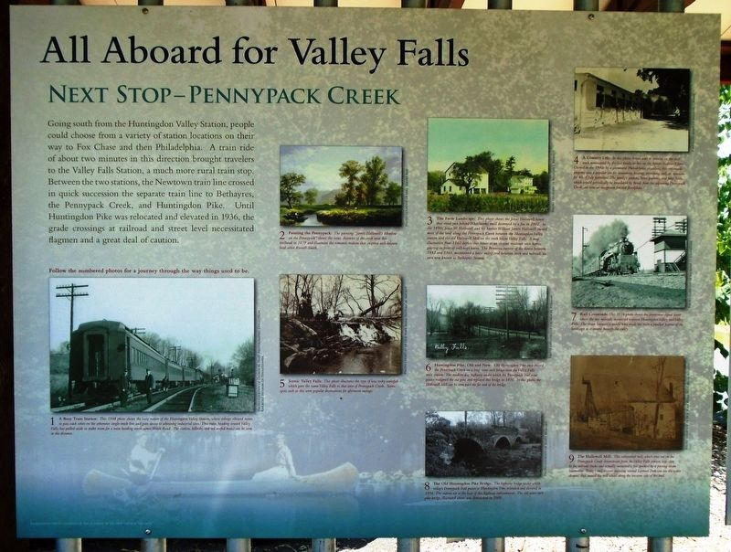All Aboard for Valley Falls Marker image. Click for full size.