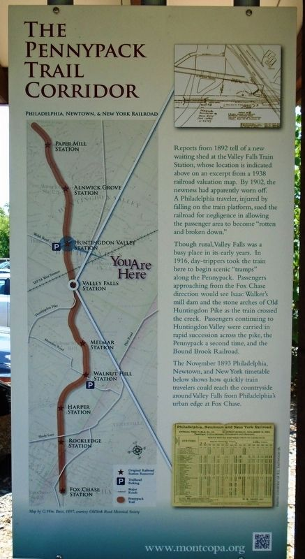 The Pennypack Trail Corridor Marker image. Click for full size.