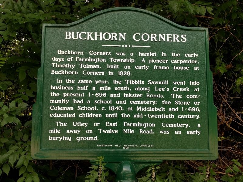 Buckhorn Corners Marker image. Click for full size.