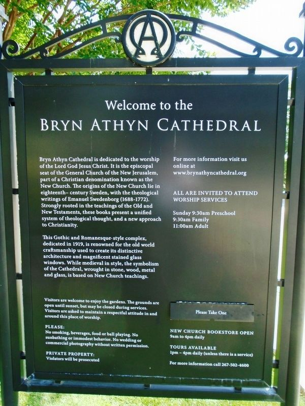 Welcome to the Bryn Athyn Cathedral Marker image. Click for full size.
