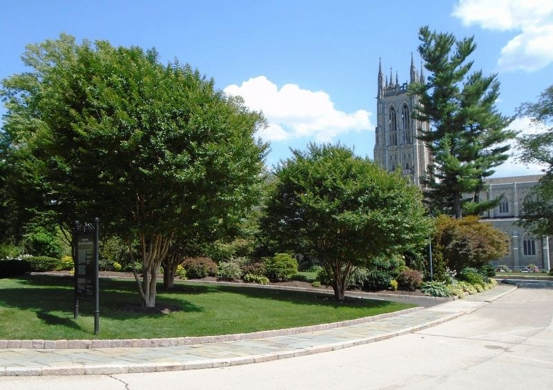 Bryn Athyn Cathedral and Marker image. Click for full size.