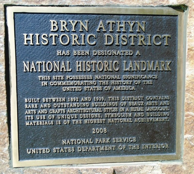 Bryn Athyn Historic District NHL Marker image. Click for full size.