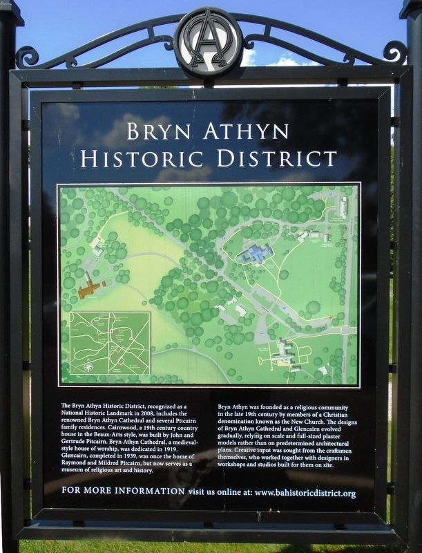 Bryn Athyn Historic District Marker image. Click for full size.