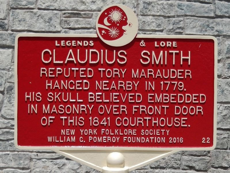 Claudius Smith Marker image. Click for full size.