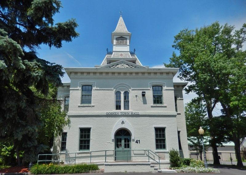 Goshen Town Hall (<i>view from near marker</i>) image. Click for full size.
