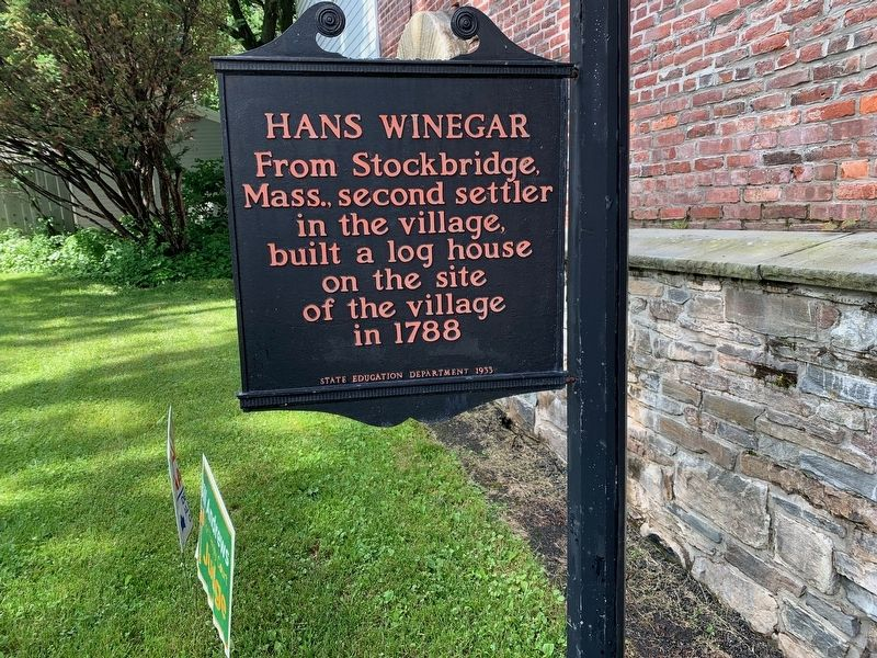 Hans Winegar Marker image. Click for full size.