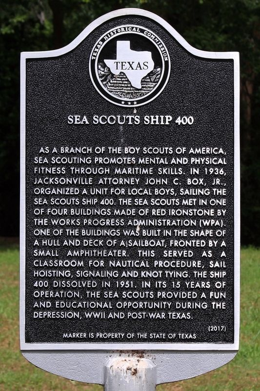 Sea Scouts Ship 400 Marker image. Click for full size.