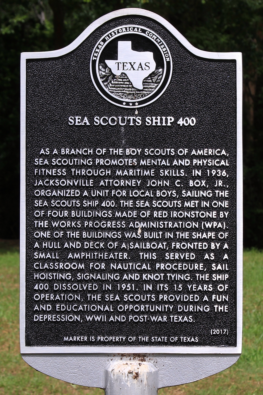 Sea Scouts Ship 400 Marker