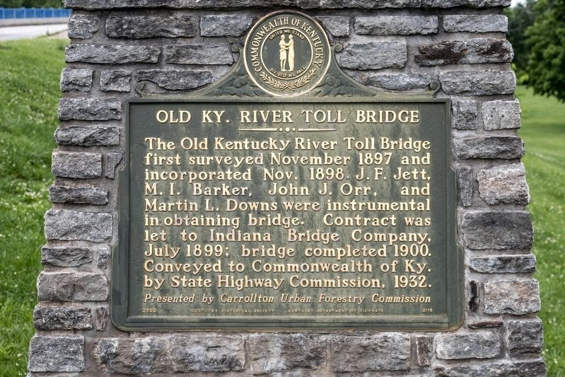 Old Ky. River Toll Bridge Marker image. Click for full size.