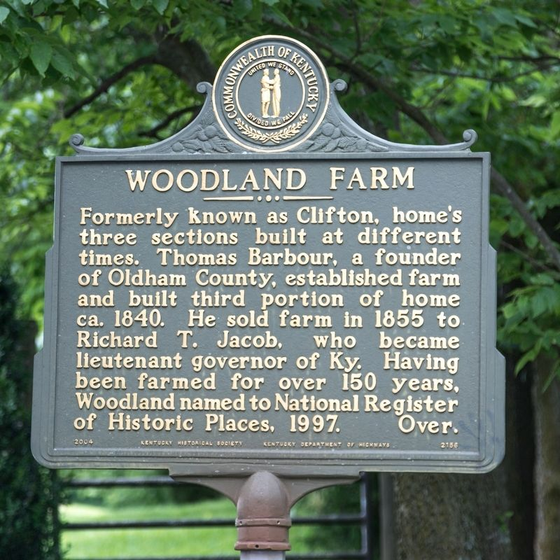 Woodland Farm Marker, side one image. Click for full size.