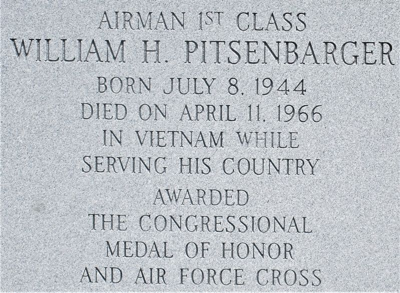William Pitsenbarger Marker image. Click for full size.