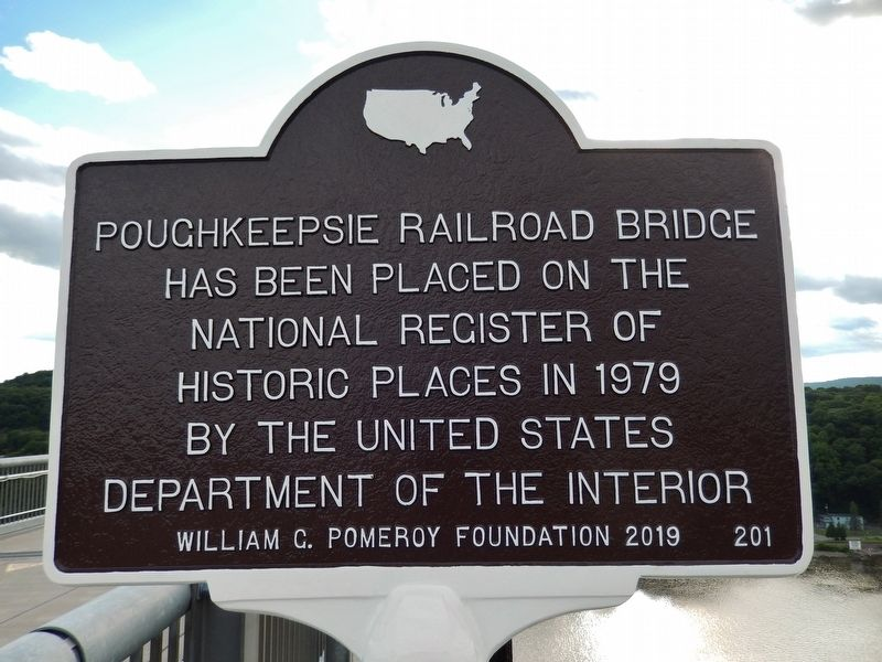 Poughkeepsie Railroad Bridge Marker image. Click for full size.