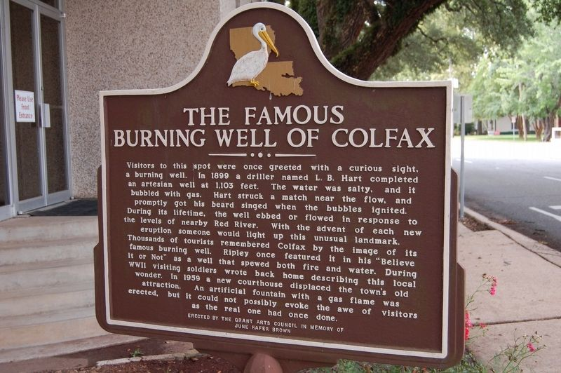 The Famous Burning Well of Colfax Marker image. Click for full size.