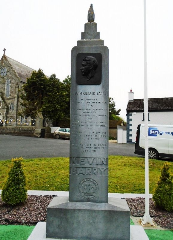 Kevin Gerard Barry Monument image. Click for full size.