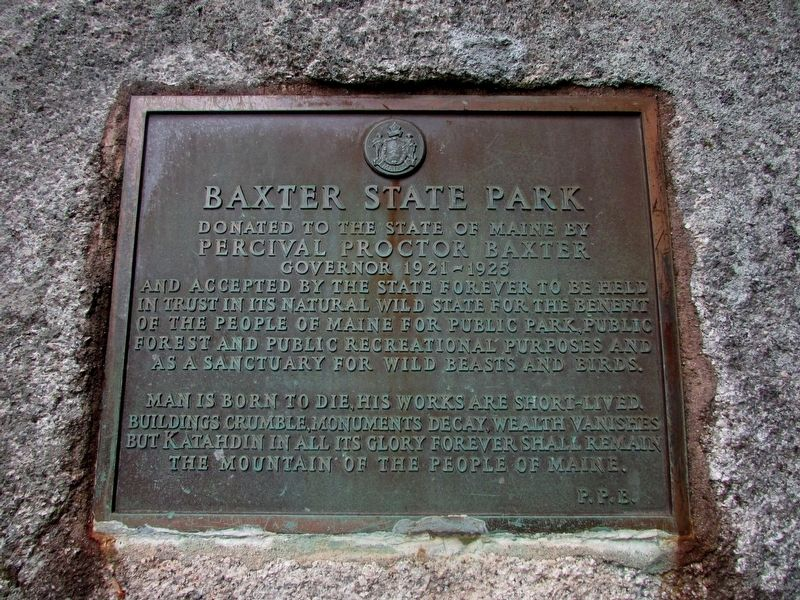 Baxter State Park Marker image. Click for full size.