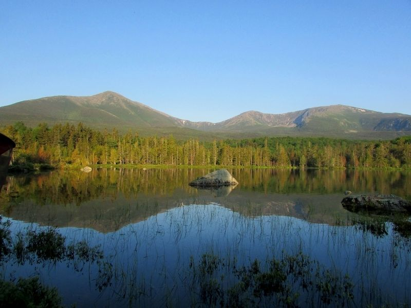 Mount Katahdin in Baxter State Park image. Click for full size.