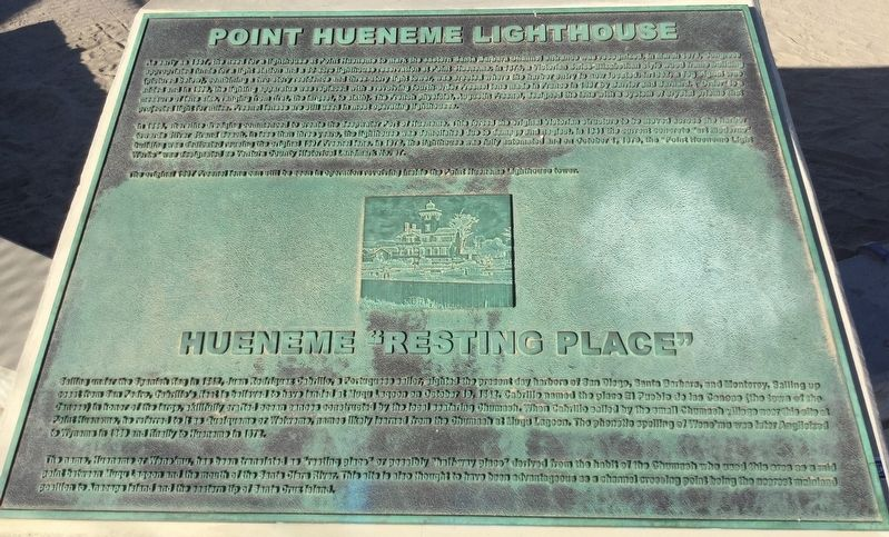 Point Hueneme Lighthouse Marker image. Click for full size.