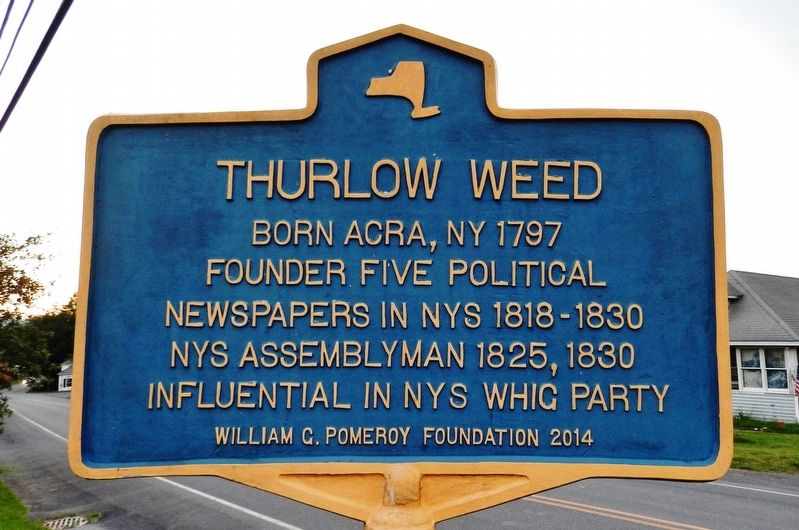 Thurlow Weed Marker image. Click for full size.