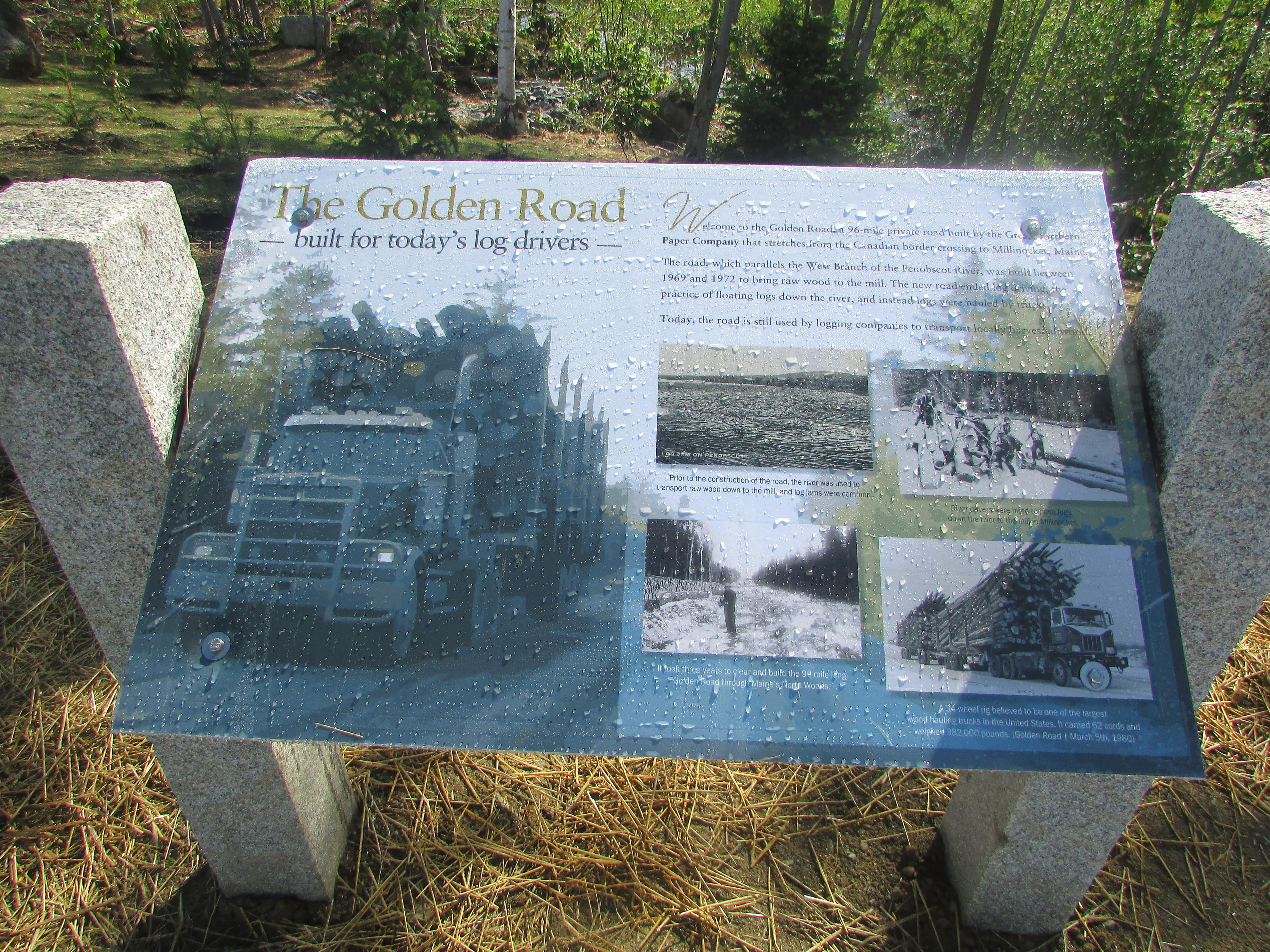 The Golden Road Marker