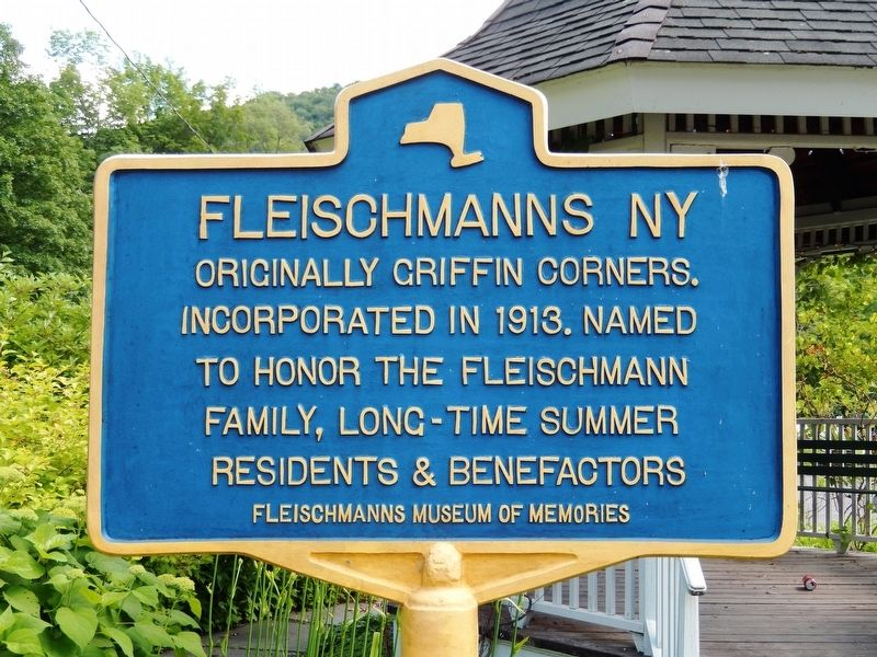 Fleischmanns NY Marker image. Click for full size.