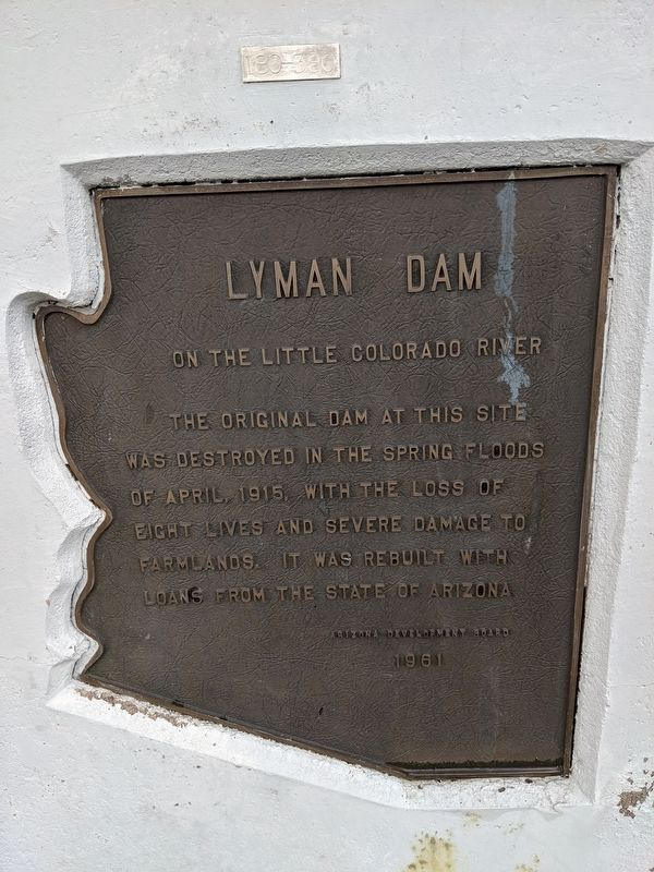 Lyman Dam Marker image. Click for full size.