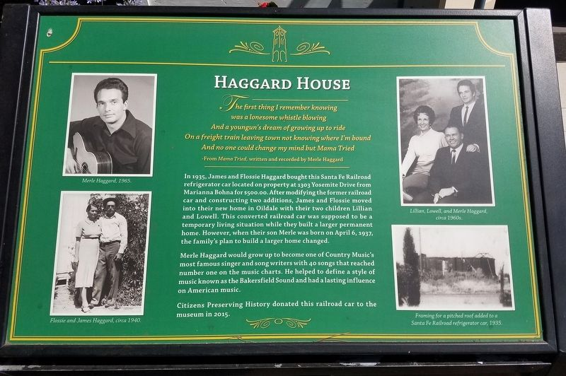 Haggard House Marker image. Click for full size.