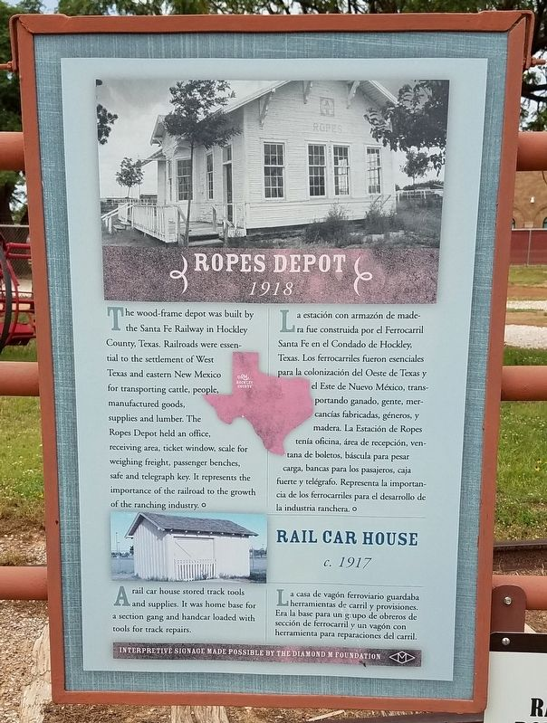 Ropes Depot and Rail Car House Marker image. Click for full size.