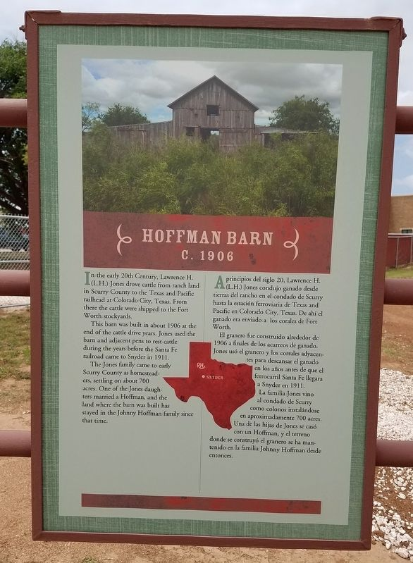 Hoffman Barn Marker image. Click for full size.