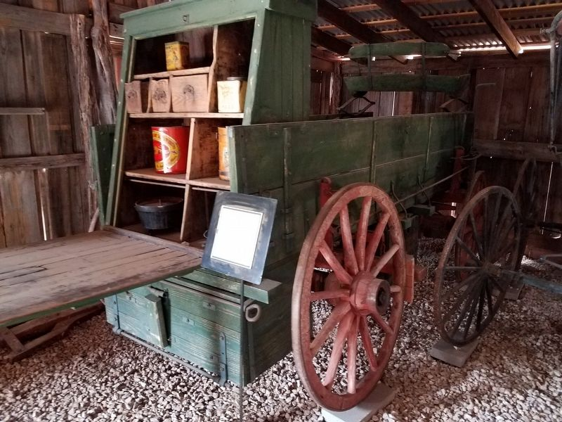 Chuck wagon inside the Hoffman Barn image. Click for full size.