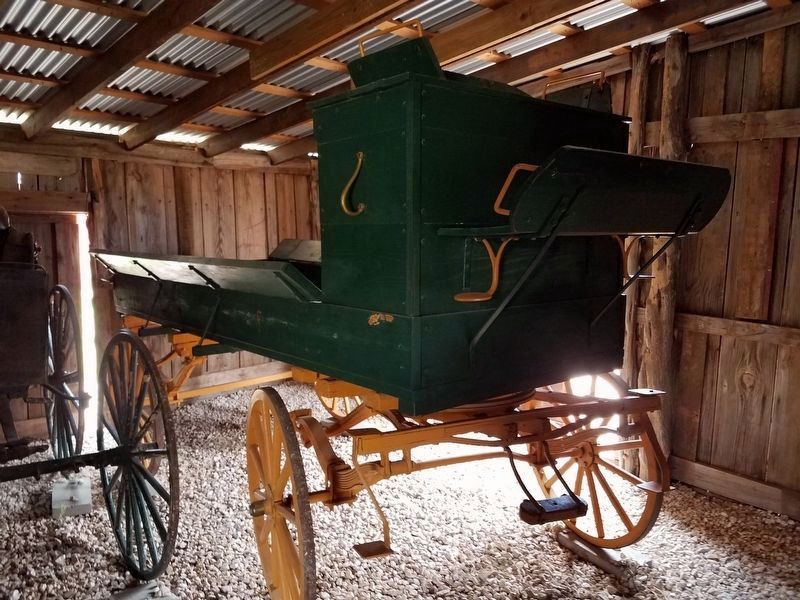 Carriages and wagons inside the Hoffman Barn image. Click for full size.