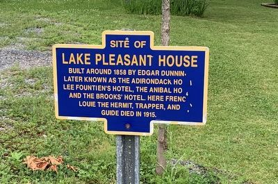 Site of Lake Pleasant House Marker image. Click for full size.