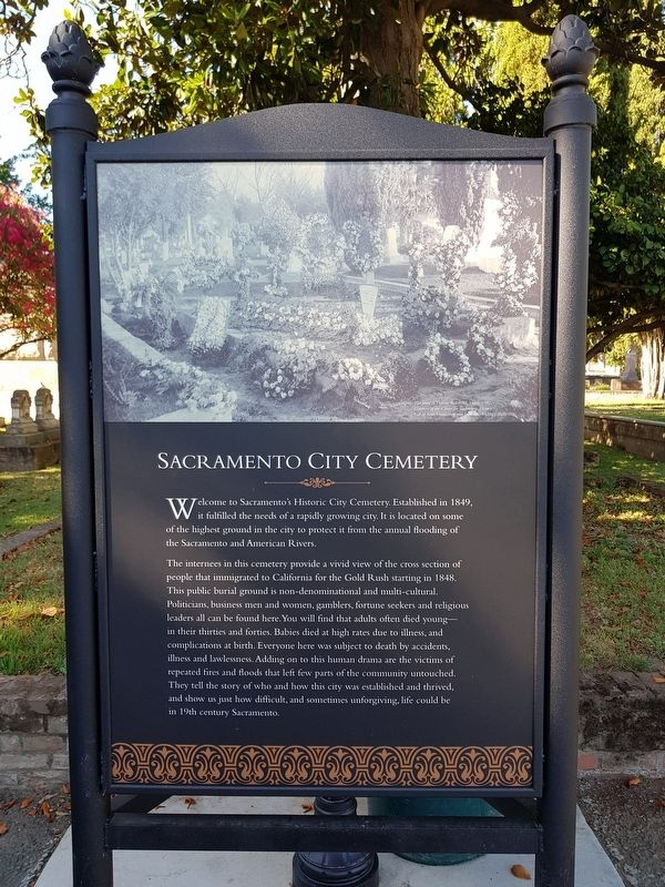 Sacramento City Cemetery / People of the Cemetery Marker image. Click for full size.