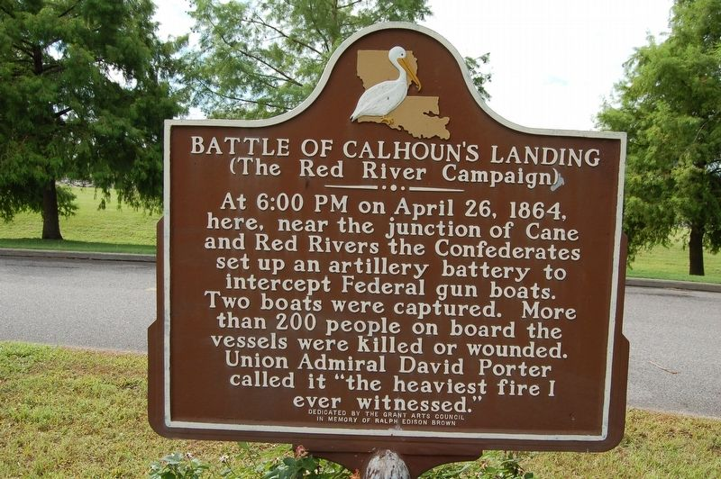 Battle of Calhoun's Landing Marker image. Click for full size.
