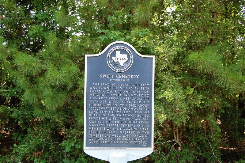 Swift Cemetery Marker image. Click for full size.