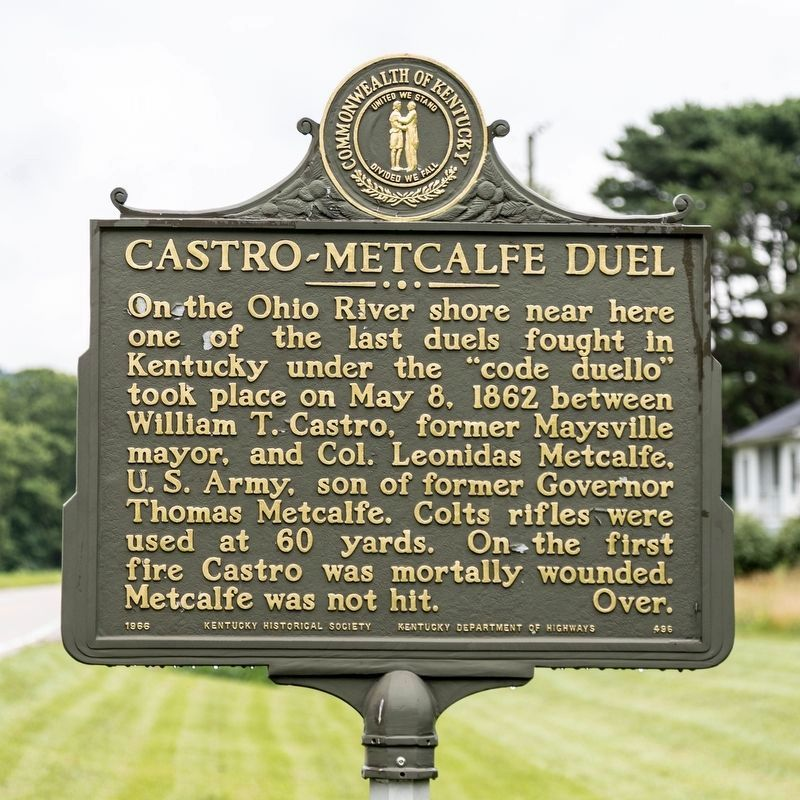 Castro-Metcalfe Duel Marker, side one image. Click for full size.