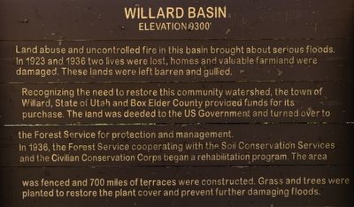 Willard Basin Marker image. Click for full size.