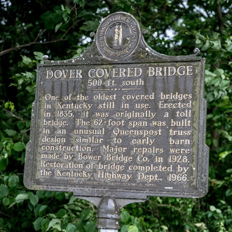 Dover Covered Bridge Marker image. Click for full size.