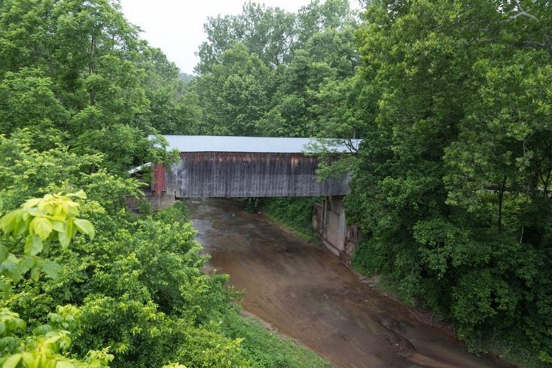 Lee Creek and Dover Covered Bridge image. Click for full size.