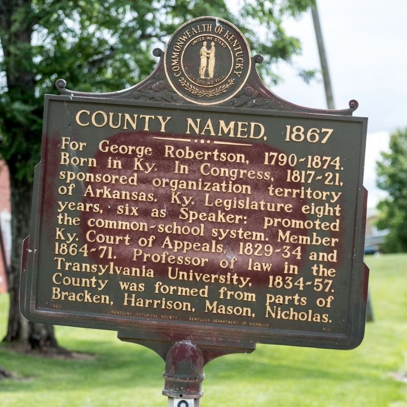 County Named, 1867 Marker image. Click for full size.