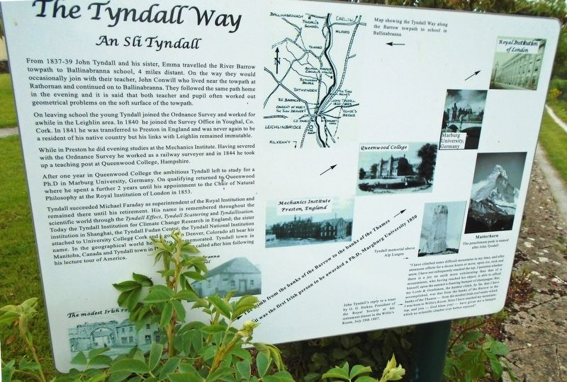 The Tyndall Way Marker image. Click for full size.