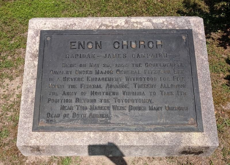 Enon Church Marker (relocated) image. Click for full size.