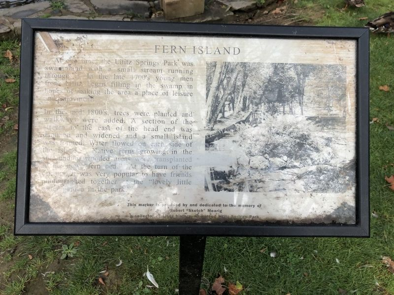 Fern Island Marker image. Click for full size.