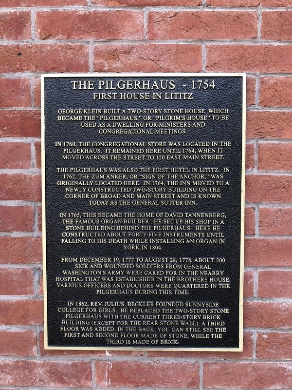 The Pilgerhaus - 1754 Marker image. Click for full size.