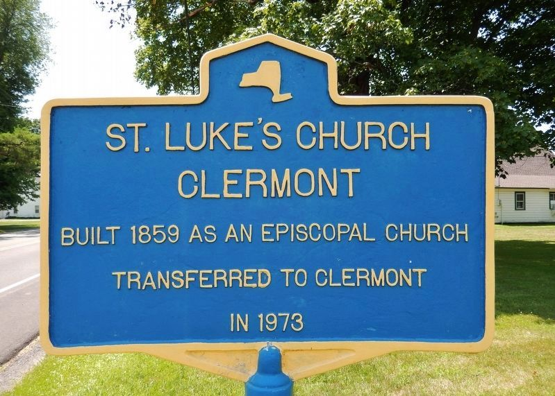 Saint Luke's Church Clermont Marker image. Click for full size.