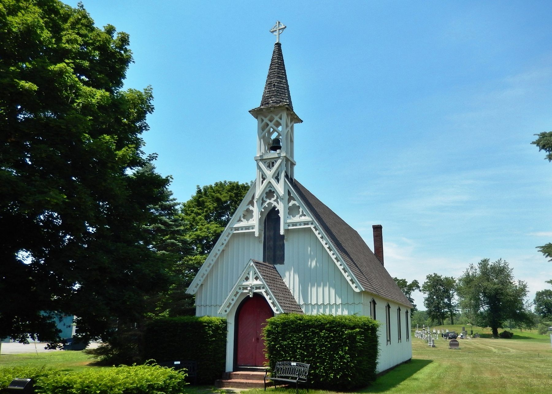 Saint Luke's Church (<i>view from near marker</i>) image. Click for full size.