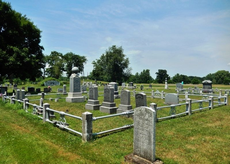 Saint Luke's Church Cemetery<br>(<i>located behind the church</i>) image. Click for full size.