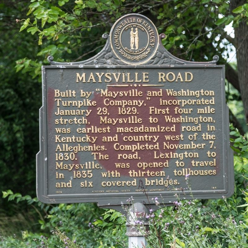 Maysville Road Marker image. Click for full size.