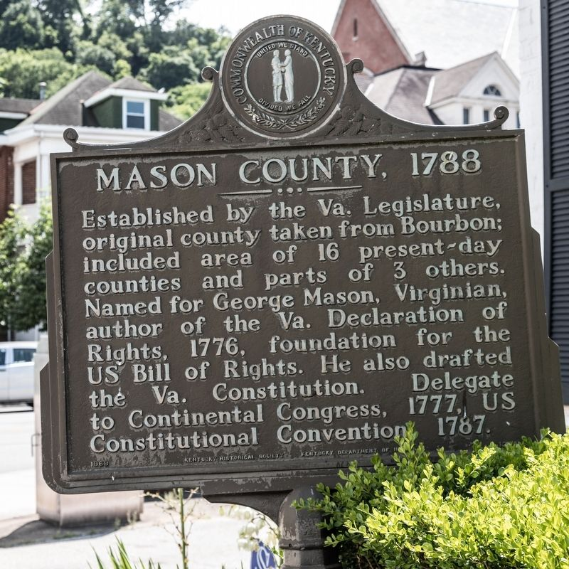 Mason County, 1788 Marker image. Click for full size.